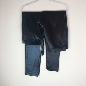 2 Pair of Express Size Large Black Leggings P4
